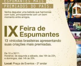 PRESTIGIE ! IX FEIRA DE ESPUMANTES - 10 a 30/11